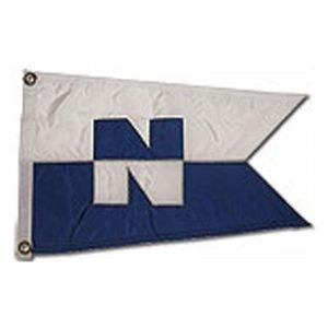 """N"" (Nordhavn) 12×18″ burgee with swallowtail"