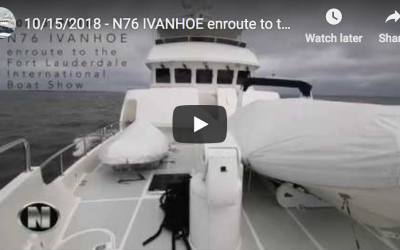 N76 IVANHOE enroute to the Fort Lauderdale International Boat Show