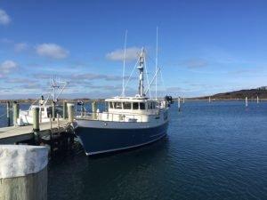 N46 owner Mark Middleman off the coast of Massachusetts