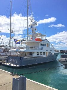 N76 SIRIUS at Viaduct Harbor, Auckland, New Zealand