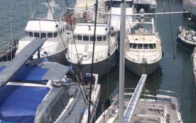 N60 EbbnFlow, N60 Daybreak and N50 Duet loaded on the Yacht Express in Brisbane