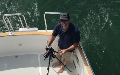 Nordhavns photographer and videographer Doug Harlow aboard a beautiful Nordhavn 60