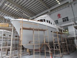 Construction of N475 hull #1