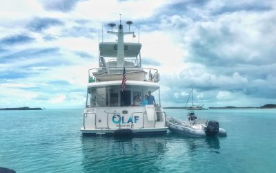 The Nordhavn 60 OLAF was spotted in Warderick Wells