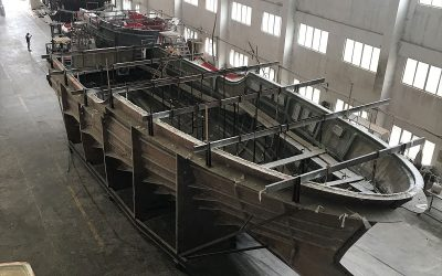 Nordhavn 80 hull #2 released from mold