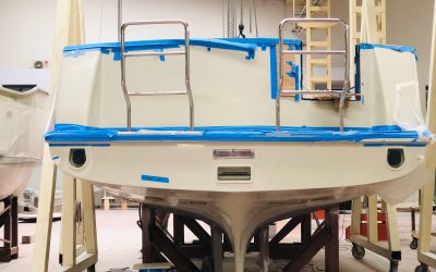 The brand new Nordhavn 41 entering final stages of completion