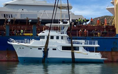 Nordhavn 60#77 offloaded in Ensenada, Mexico