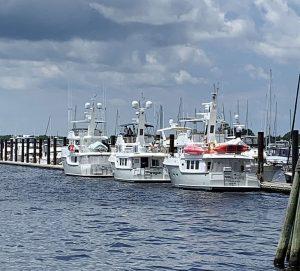 N55 ROAM, N47 PARAGON, N47 SOUTHERN STAR at New Bern Grand Marina over Memorial Day weekend