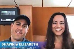 Boattest webcast interview with the Shawn & Elizabeth Krenkes aboard N43 MV Freedom