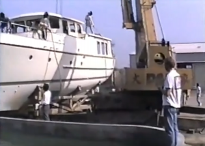 The First Nordhavn 46 – Tank test – South Coast Factory 1989