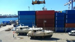 The N41's are on their way. Hull #1 and #2 at the shipping port in Istanbul. Next stop California!