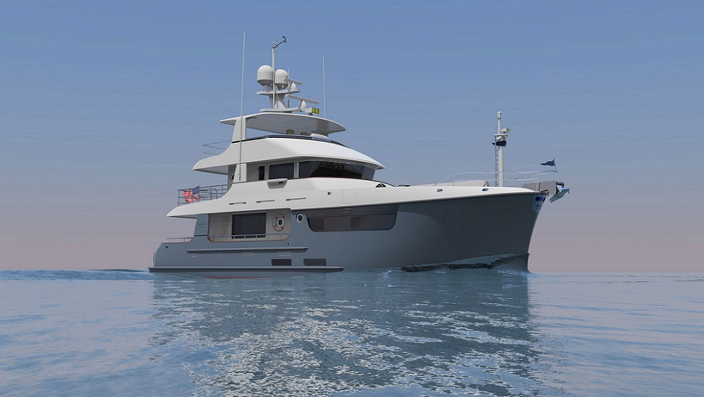 5 Nordhavn 71 Expedition Yacht Blue
