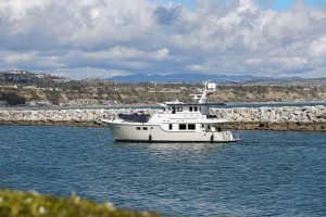 Nordhavn 63 formerly LADY DI coming into Dana Point