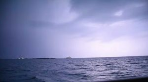 SURPRISE MIDNIGHT STORM with 8 foot waves AT ANCHOR!