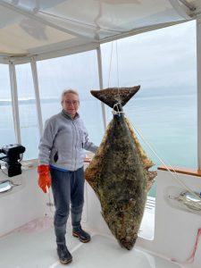 Giant Halibut caught on N52 SAMBA