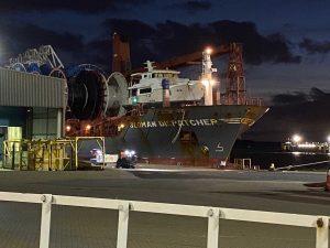 N6839 arrives in Portsmouth UK