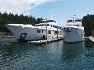 "N12001 ""Aurora"" and N9616 ""Serendipity"" Friday Harbor, WA"
