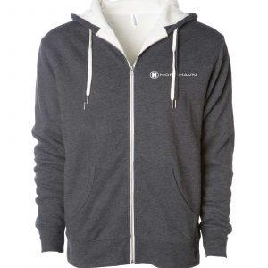 Sherpa Lined Zip Hooded Sweatshirt