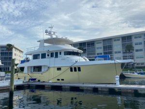 The first Nordhavn 80 arrives in Florida