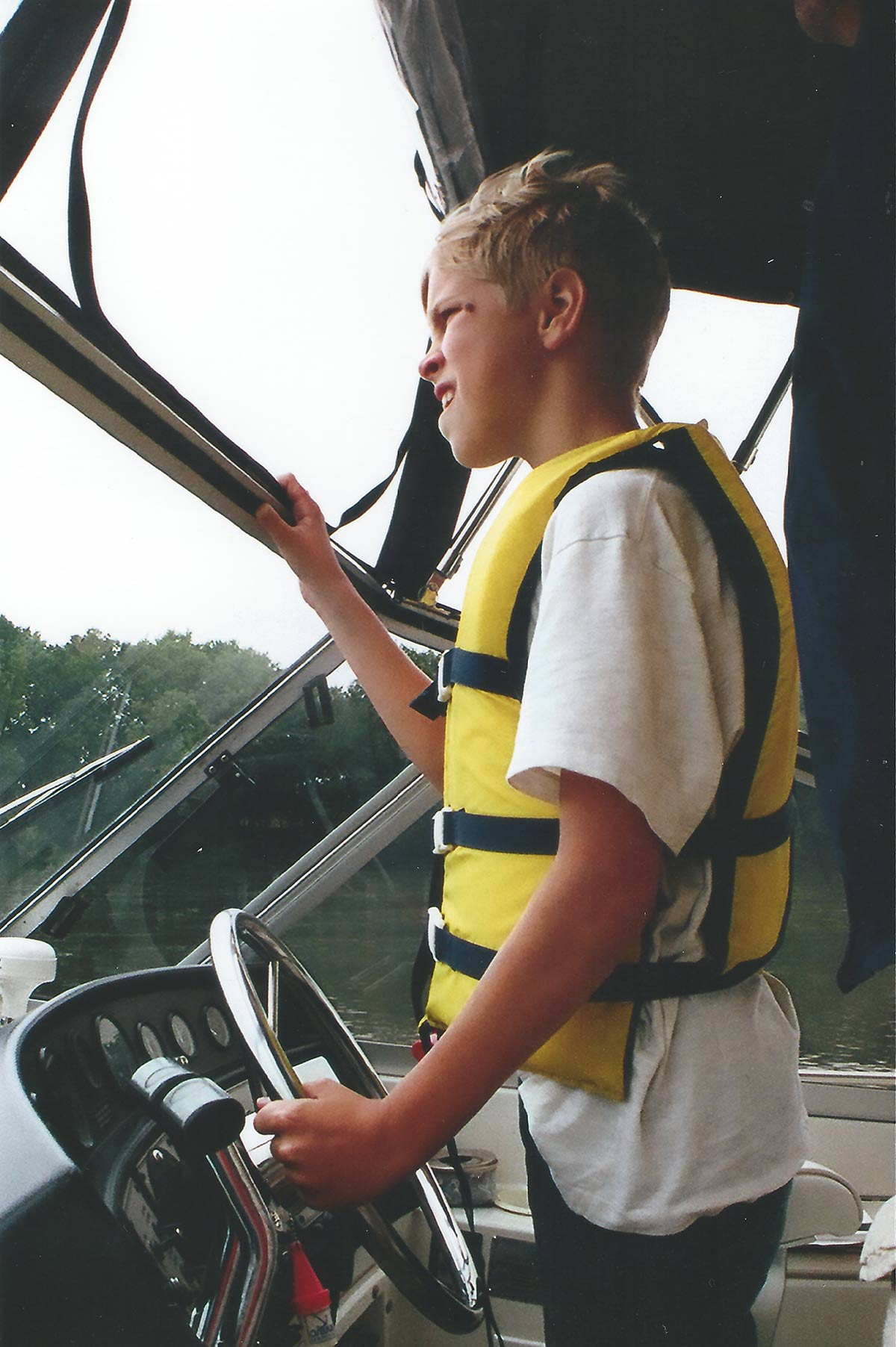 First mate on his uncle's boat