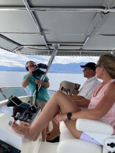 Video shoot aboard N55 RED ROVER